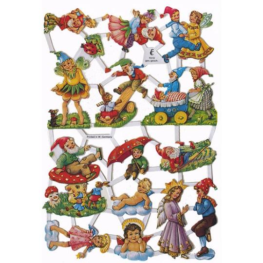 Playful Gnome Scraps ~ W. Germany