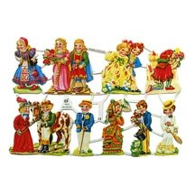 Limited Edition Victorian Costumes Children Scraps ~ Germany