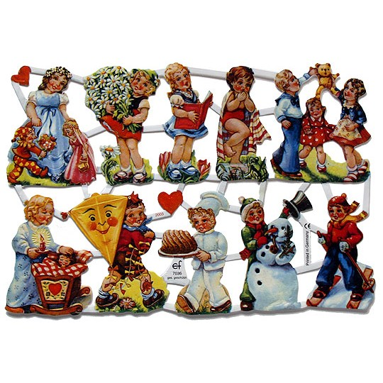 Children Through the Seasons Scraps ~ Germany