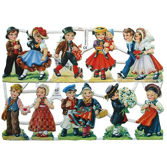 Limited Edition German Children Scraps ~ Germany