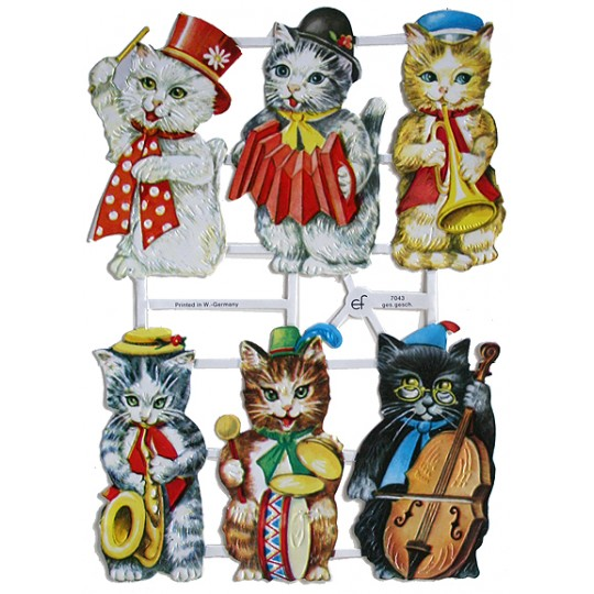 Musical Kitties Scraps ~ Germany