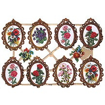 Framed Floral Scraps ~ Germany