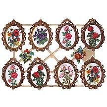 Framed Floral Scraps ~ Germany