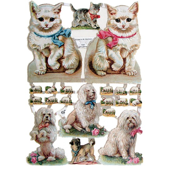 Fancy Kitties & Puppies Scraps ~ Germany