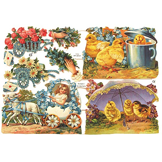 Pretty Easter Scenes Scraps ~ Germany