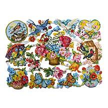 Flowers, Birds & Butterflies Scraps ~ Germany
