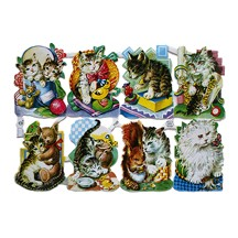 Whimsical Kitty Cat Scraps ~ W. Germany