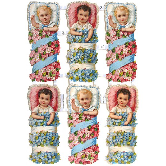 Victorian Flower Babies Scraps ~ Germany