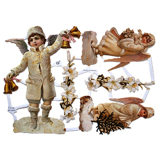 Snow Angel Children Scraps ~ Germany