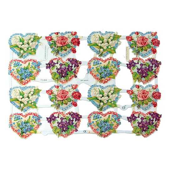 Floral Hearts Scraps ~ Germany