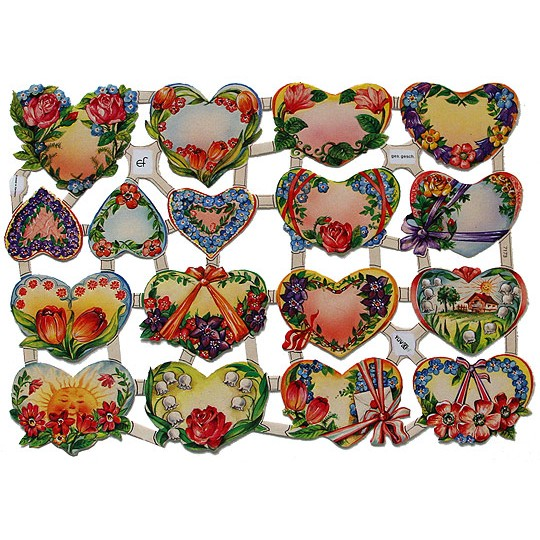Heart and Flowers Scraps ~ Germany