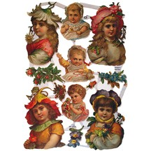 Flower Girls and Babies Scraps ~ Germany