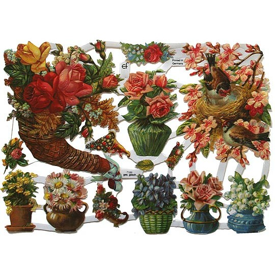 Floral Cornucopia Scraps ~ Germany