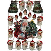 Santa & Bells Scraps ~ Germany