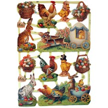 Bunny & Rooster Easter Scraps ~ Germany