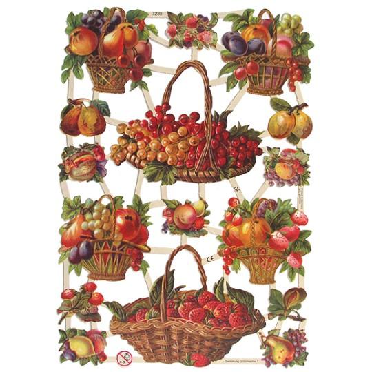 Fruit & Fruit Basket Scraps ~ Germany