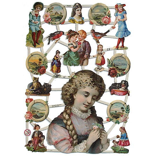 Victorian Children & Seascape Scraps ~ Germany