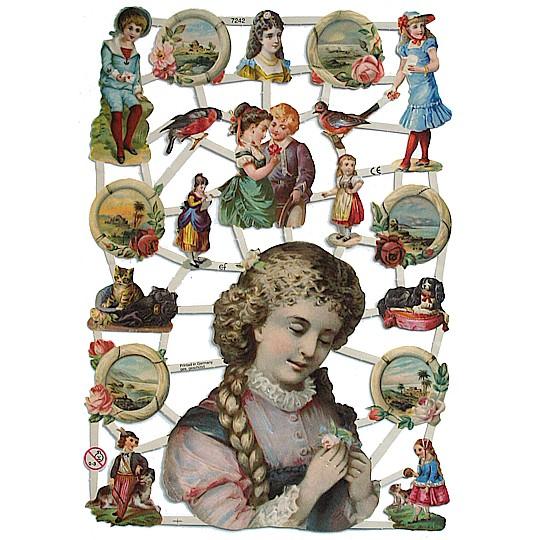 Victorian Children & Seascape Scraps ~ Germany