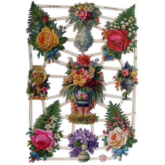 Pretty Flower and Fern Scraps~ Germany