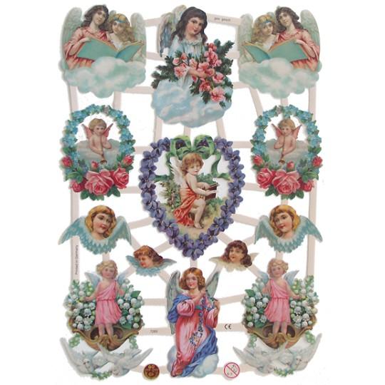 Pretty Angels & Flowers Scraps ~ Germany