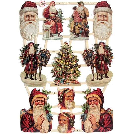Old Fashioned Santa Scraps ~ Germany