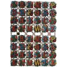 Floral Alphabet Letters Scraps ~ Germany