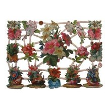 Flowers & Seashells Scraps ~ Germany