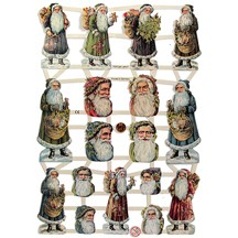 Old Time Santa Faces Scraps ~ Germany