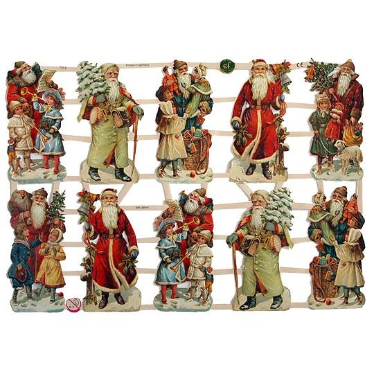 Santa & Children Scraps ~ Germany