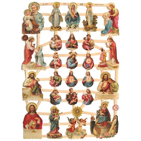 Sacred Heart & Religious Vignette Scraps ~ Germany