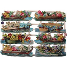 Floral Boats Scraps ~ Germany