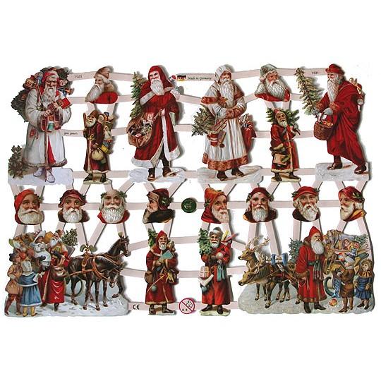 Victorian Santa Christmas Scraps ~ Germany ~ 2010