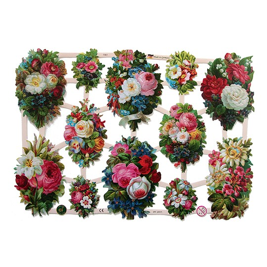 Pretty Floral Bouquets Scraps ~ Germany ~ 2011