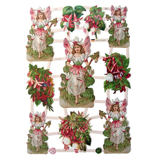 Pretty Fuchsia Fairies Scraps ~ Germany ~ 2011