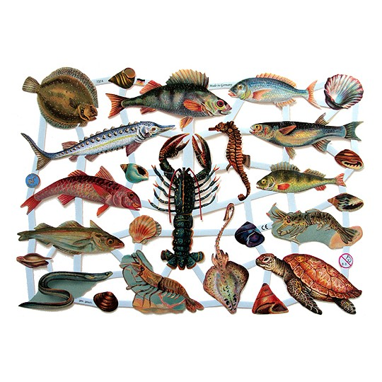 Fish & Crustaceans Scraps ~ Germany ~ 2011