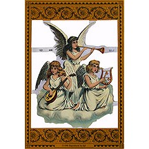 Large Musical Angels Scrap ~ England