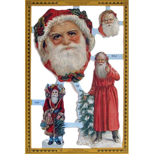 Victorian Santa Scraps ~ England
