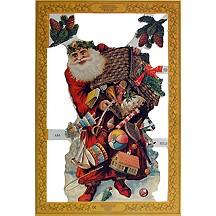Large Victorian Santa Scrap ~ England