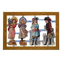 Victorian Christmas Girls Scraps ~ England