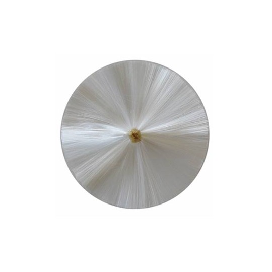 "3-1/2"" Spun Glass Halo ~ White"