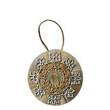 Fancy Spun Glass Victorian Lady Ornament