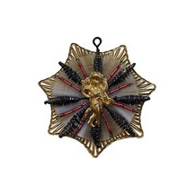 Elaborate Golden Angel Snowflake ~ Red