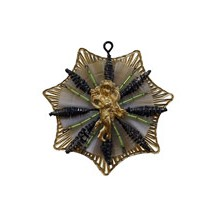 Elaborate Golden Angel Snowflake ~ Green