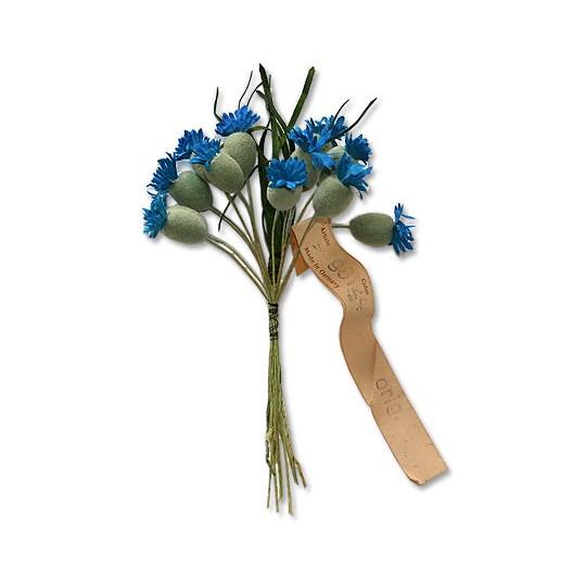 """12 Vintage Blue Cornflower Buds ~ 3/4"""""""