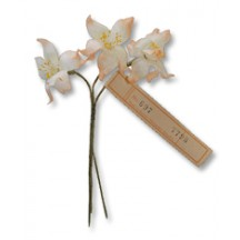 Spray of Peach & Ivory Organdy Jonquil Flowers ~ Vintage Germany