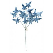 Sprig of Pale Blue Velvet Ivy Leaves ~ Vintage Japan