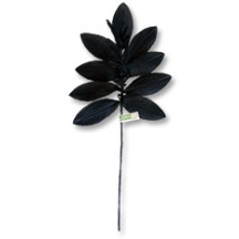 Sprig of Black Silk Leaves with Tassels ~ Vintage Japan
