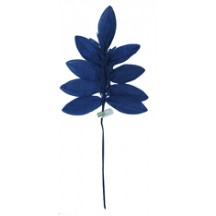 Sprig of Navy Blue Silk Leaves with Tassels ~ Vintage Japan