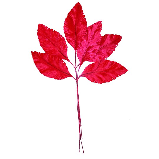 Sprig of Magenta Velvet Leaves ~ Vintage Germany