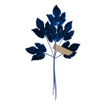 Sprig of Navy Blue Velvet Leaves ~ Vintage Germany